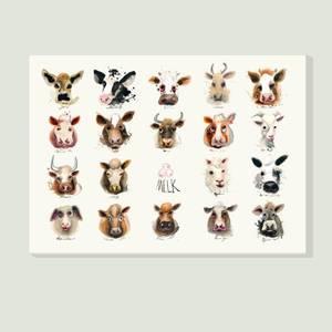 Bilde av Poster Melkeproduserende dyr i Norge