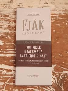 Bilde av Fjåk sjokolade 50% melk, Guatemala lakrisrot og